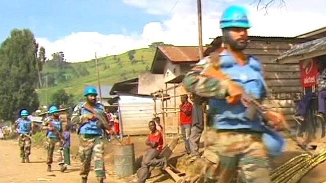 UN patrol in DR Congo