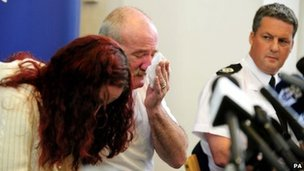 Mairead and Mick Philpott at a police news conference