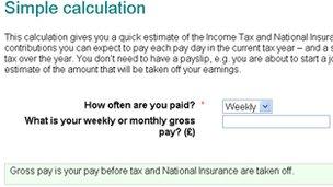 Screen grab from Calculator