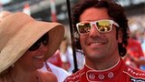 Dario Franchitti celebrates his victory