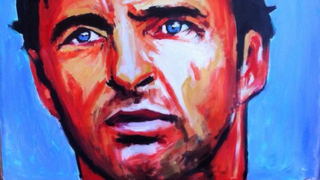 A painting of Gary Speed