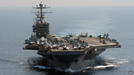 USS Abraham Lincoln in the Indian Ocean