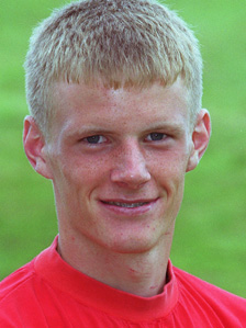 Stephen Healey - pictured as a trainee with Swansea City