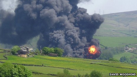 The fire in Littleborough