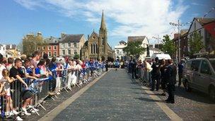 Caernarfon crowd