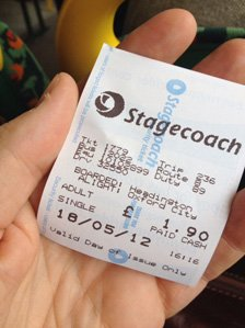 Rory's bus ticket