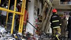 "View of shops at the scene of an explosion in Kenya""s capital Nairobi May 28, 2012."