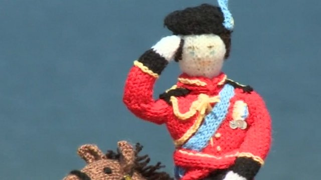 Knitted figure