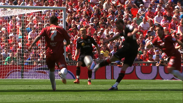 Nick Powell scores stunning volley against Cheltenham at Wembley