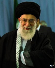 Iranian Supreme Leader Ayatollah Ali Khamenei in Tehran on 4 May 2012
