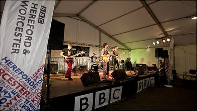 The BBC Introducing stage at the Wychwood Festival