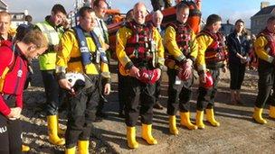 Beaumaris RNLI lifeboat crew