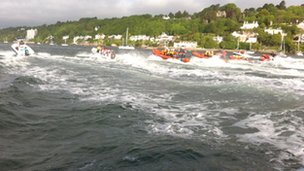 Boats on Menai Strait