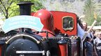 The torch on the Ffestiniog Railway from Blaenau Ffestiniog to Porthmadog