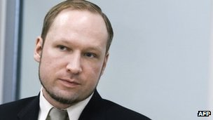 Anders Behring Breivik in court in Oslo on 22 May