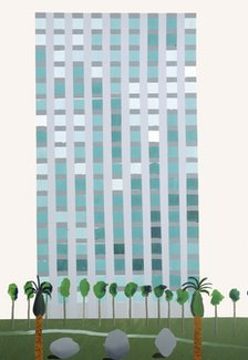 David Hockney's Savings and Loan Building