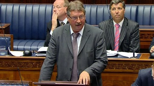 Finance Minister Sammy Wilson made a statement on a recent North South Ministerial Council meeting.