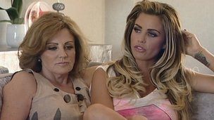 Katie Price with mother