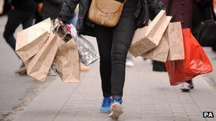 Shopper in central London