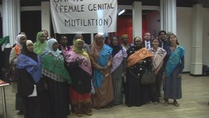 Anti-FGM campaigners in Bristol