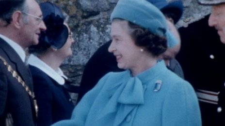 The Queen in St Davids, Pembrokeshire, in 1982