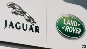 Jaguar and Land Rover emblems