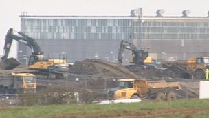 Site preparation work for Hinkley Point C