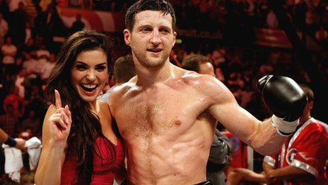 Carl Froch and girlfriend Rachael Cordingley