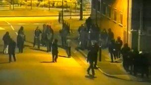 CCTV of riots in Birmingham