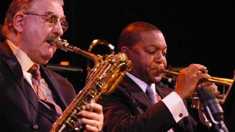 Joe Temperley with Wynton Marsalis
