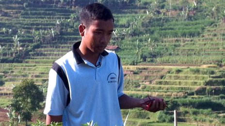 Ade, young Indonesia farmer