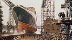 Launch of the QE2 from John Brown and Co, Clydebank