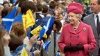 HM The Queen in Portree, 2002