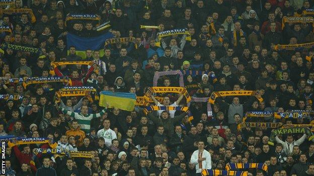 Ukraine fans
