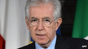 Italian PM Mario Monti. Photo: 29 May 2012