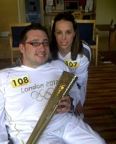 Beth Tweddle with Ian Powell