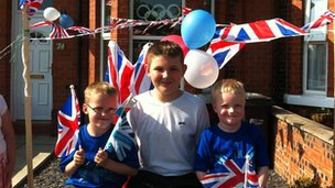 Adam and friends in Saltney