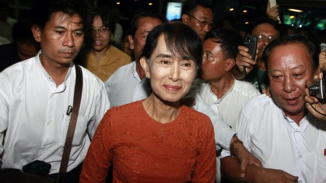 Burma&#039;s opposition leader Aung San Suu Kyi