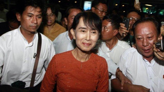 Burma's opposition leader Aung San Suu Kyi