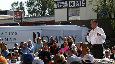 Mitt Romney speaks in Craig, Colorado 29 May 2012