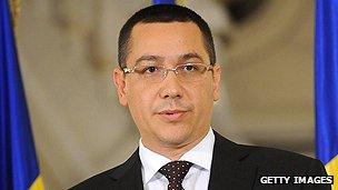 Romanian premier Victor Ponta