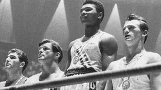 Cassius Clay wins gold in 1960