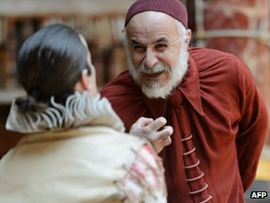 Shylock, right, in The Merchant of Venice