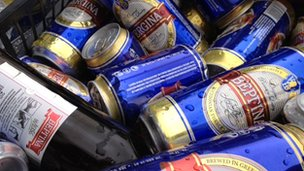 Vergina beer cans