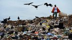 Rubbish collectors known as 'catadores' pick through Rio's biggest dump