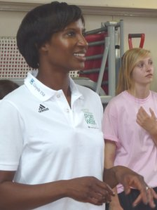 Olympic gold medallist Denise Lewis
