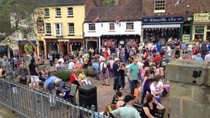 Ironbridge crowds