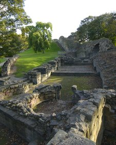 Remains of Pontefract Castle