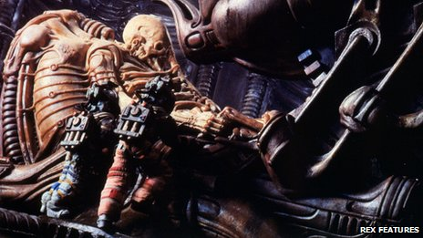 "The ""Space Jockey"" makes his first and only appearance in Alien (1979)"