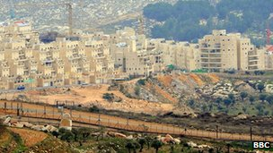 New houses being built in the Har Homa settlement in East Jerusalem, 2010